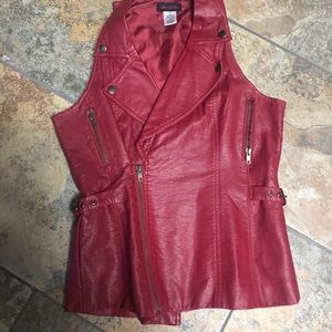 Other - Faux leather vest